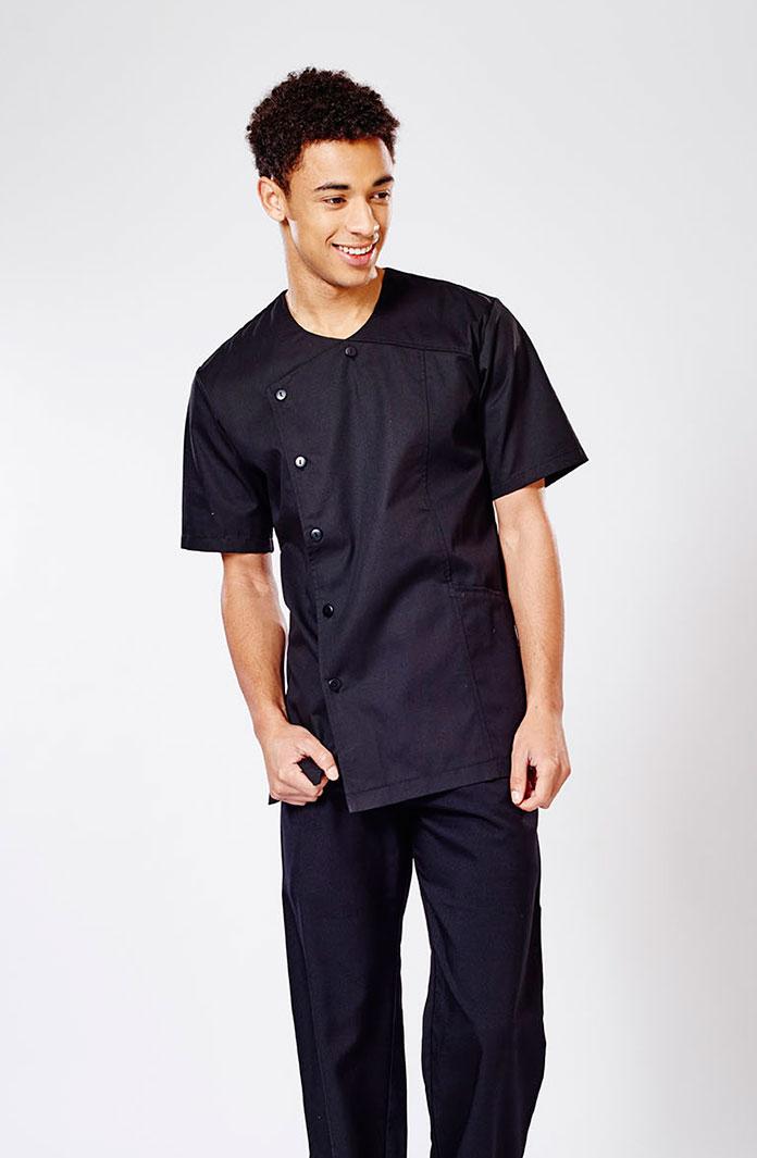 Etienne mens side fastening tunic uniform for White spa uniform uk