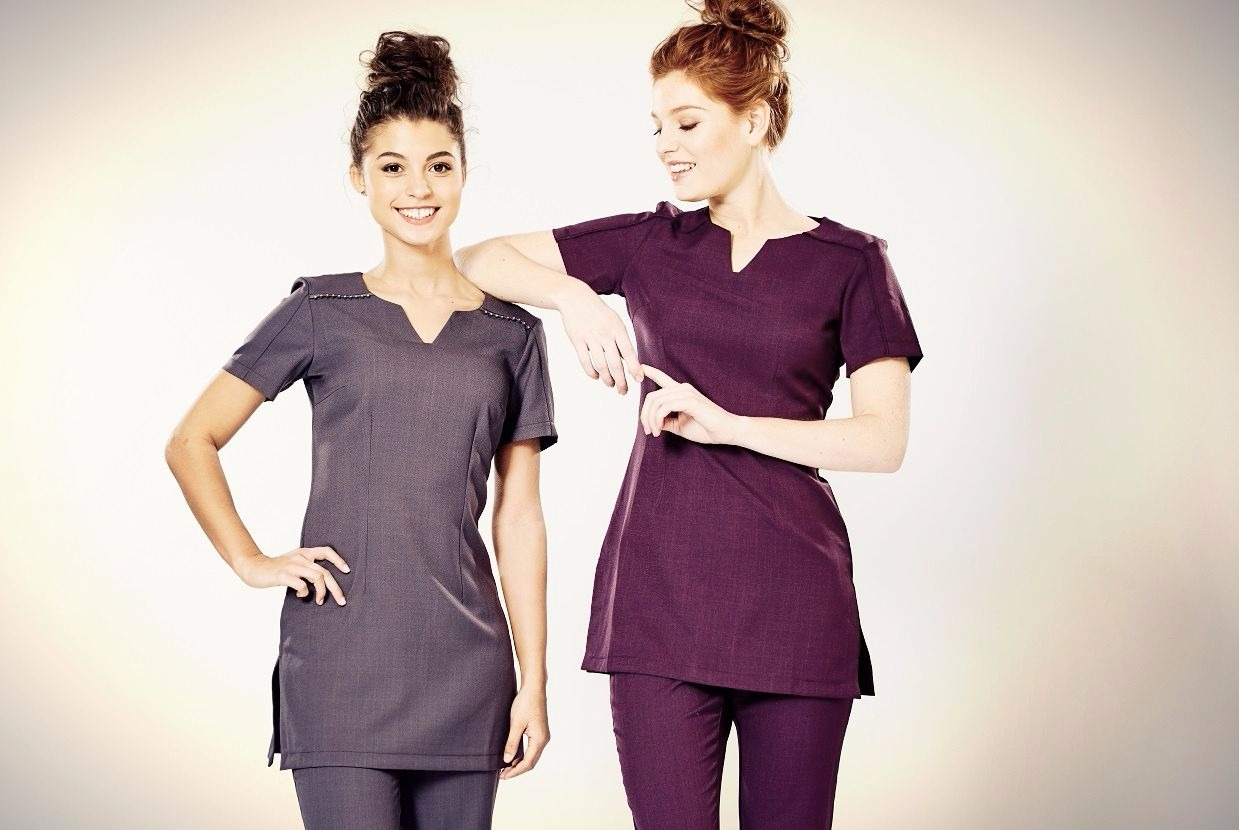 The lowdown on trendy beauty uniforms la beeby for White spa uniform uk